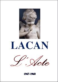 Jacques Lacan, Seminar 15, L'acte psychanalytique, Staferla 2015, Titelseite
