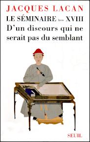 Jacques Lacan, Seminar 18, D'un discours qui ne serait pas du semblant, Version Miller, Titelseite