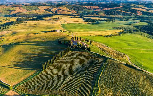 example of landscape tuscany