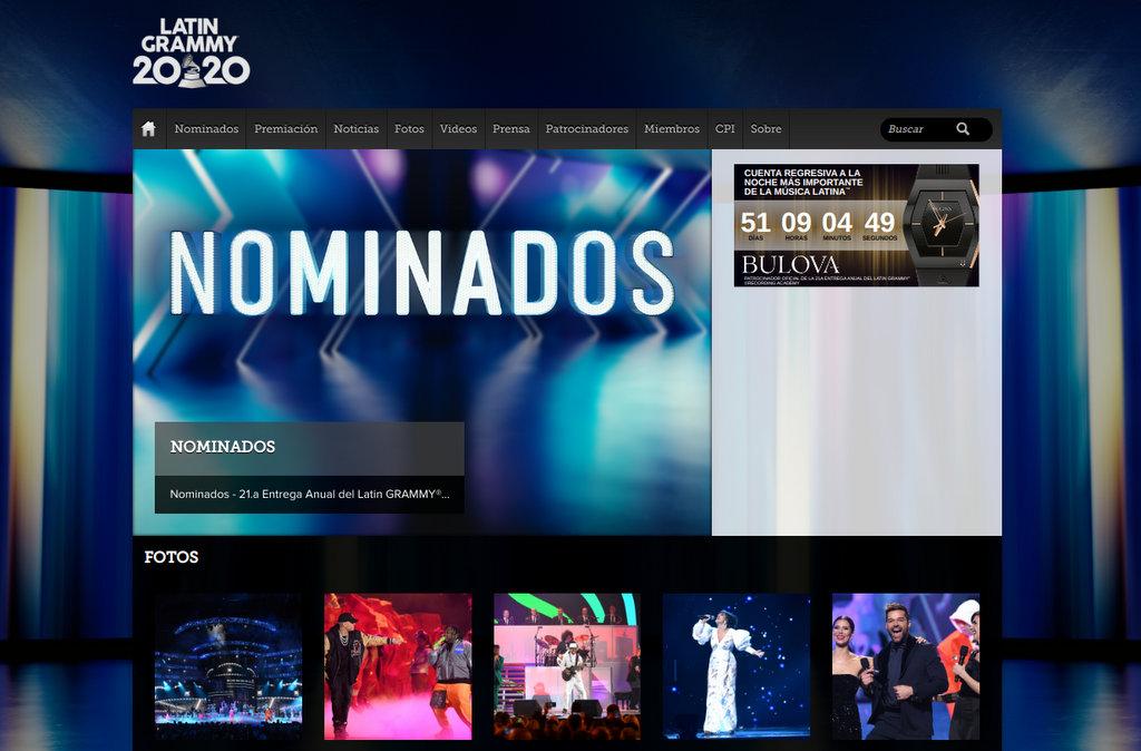La Academia Latina de la Grabación® anuncia los nominados de la 21.a entrega anual del Latin GRAMMY®