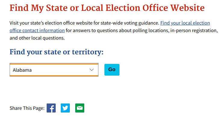 Cómo contactar a su oficina electoral local