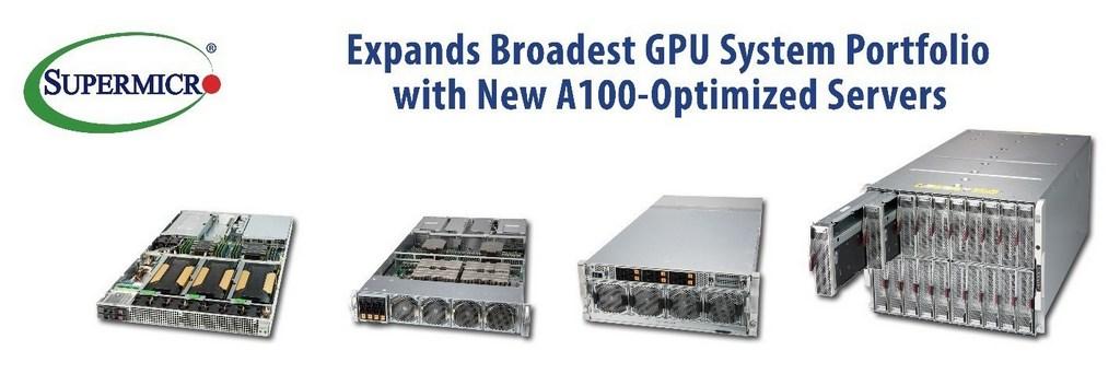 Supermicro amplía su cartera con NVIDIA HGX A100s 8-GPU y 8U SuperBlade®