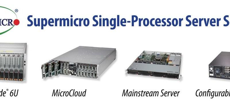 Supermicro amplía la cartera de sistemas de alto rendimiento con un solo procesador