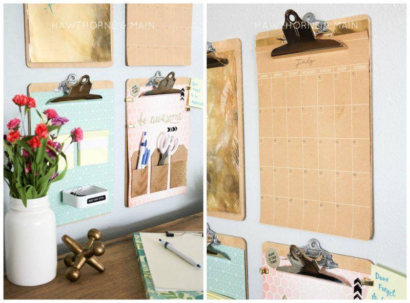 Cómo organizar tu escritorio con tablas de madera 1