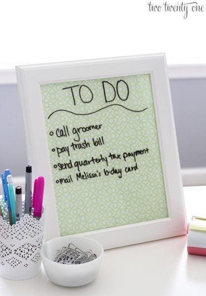 Cómo organizar tu escritorio - lista cosas por hacer