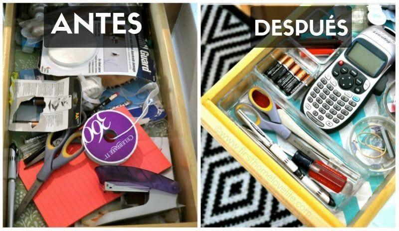 Cómo organizar tu escritorio ordenando los cajones