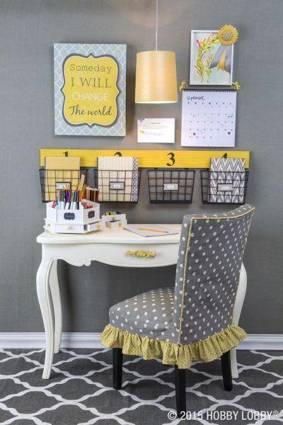 Cómo organizar tu escritorio con cestas