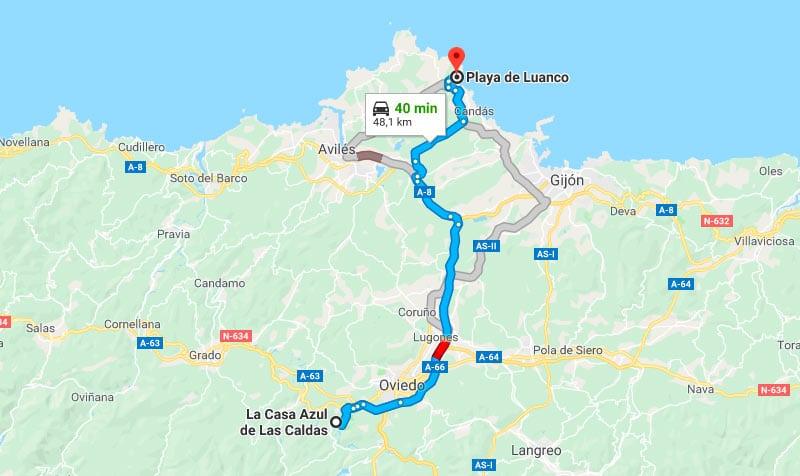 Mejores Playas de Asturias - Playa de Luanco desde Las Caldas de Oviedo