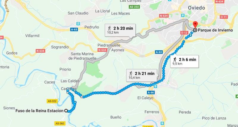 Ruta Fuso Las Caldas - Rutas por Asturias con Niños