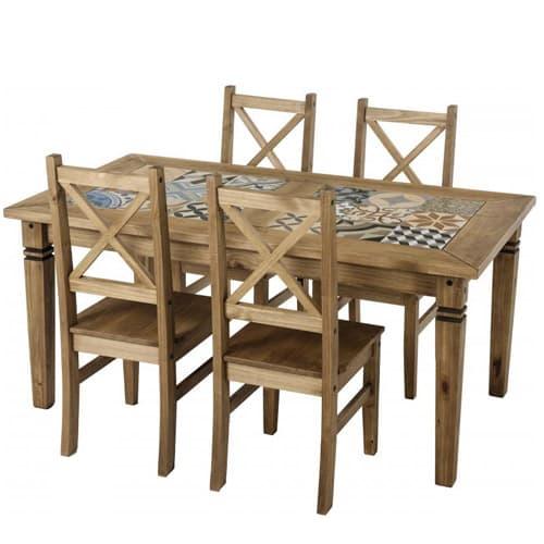 salvador tiled top dining table