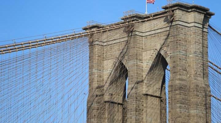 {New York City} The Brooklyn Bridge and the Intrepid Museum