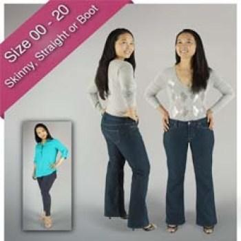 women Liana jeans denim pants trousers