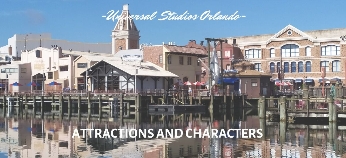 Universal Studios Florida USF: attractions and characters