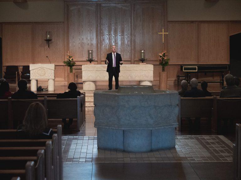 Pastor Jeff Ruby Preaching a Sermon in the Sanctuary of our Scottsdale, Arizona Lutheran Church La Casa de Cristo