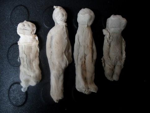 Las momias de Jimena, Nacho, Santi e Iván.