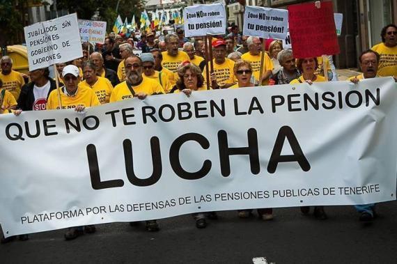 Resultado de imagen de pensionistas lucha
