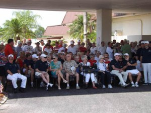 La Casa residents await the beginning of the Memorial Day tribute to our nation's veterans.