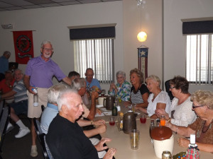 """Another fun bunch of residents enjoying the music of Rock """"N Rhythm at Saturday's dance."""