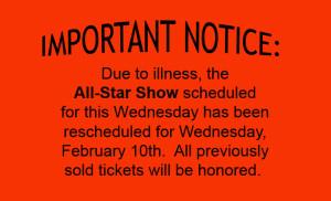 All Star Cancellation