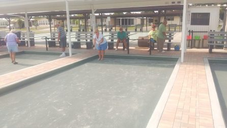 View of Bocce Courts