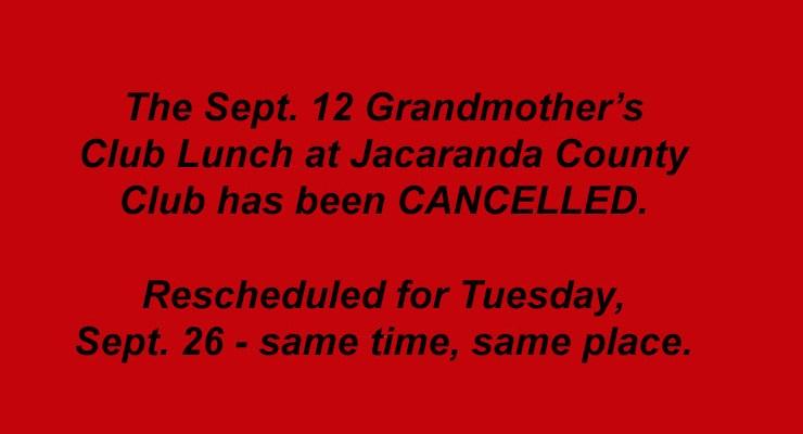 Summer 2017 Grandmothers Club Luncheons