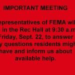 FEMA Meeting Sept. 22, 2017