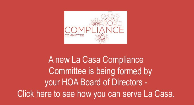 HOA Compliance Committee Forming – 2019