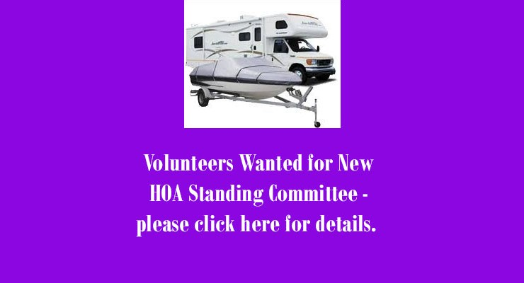 RV-Boat Compound Standing Committee Needed – April 2019