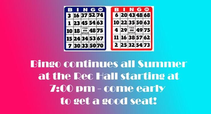 Summer 2019 Bingo!!