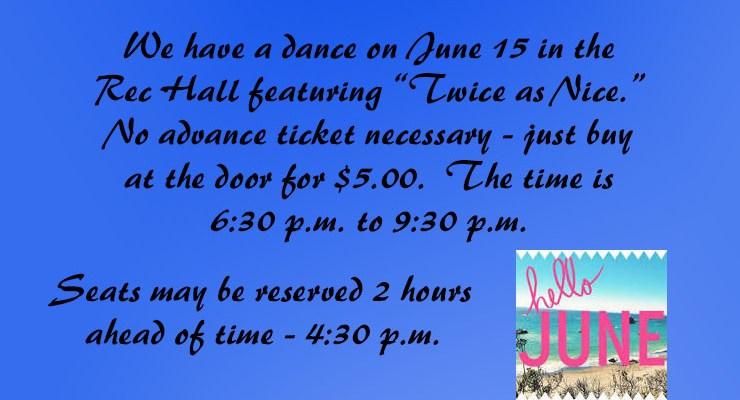 June 15 Dance
