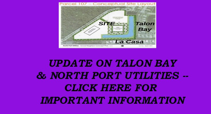 UPDATE on North Port Utilities Possible Purchase along Talon Bay Drive