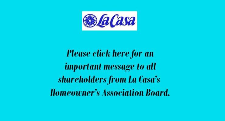 Letter to all La Casa Shareholders – Aug. 22, 2019