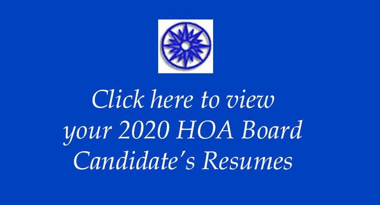 2020 HOA Board Candidates