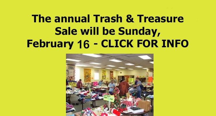 2020 Trash & Treasure Sale!!