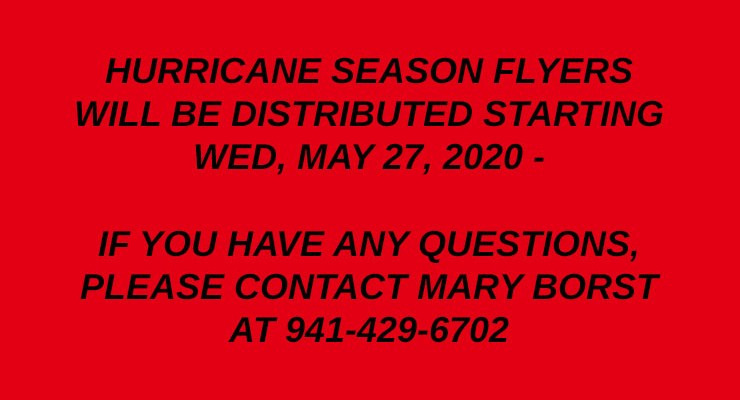 Hurricane Flyer Delivery – May 2020