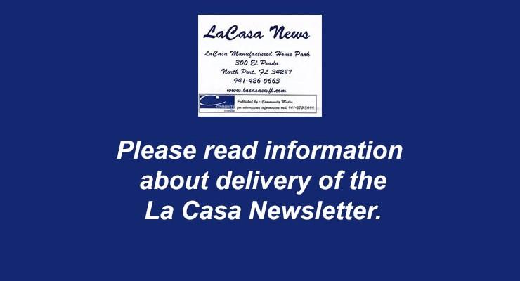 La Casa News delivery information – Dec. 2020
