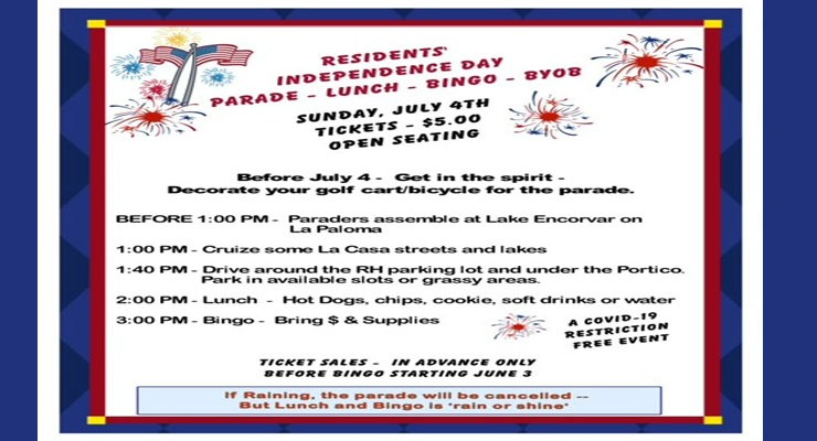 July 4, 2021 Party and Parade