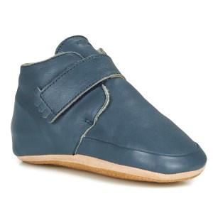 chaussons en cuir winter blue Easy Peasy