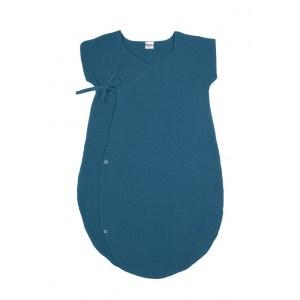 gigoteuse-legere-forme-kimono-double-gaze-uni-vert-paon