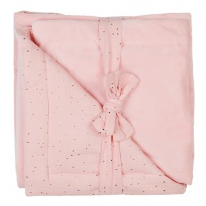 couverture-luxe-en-minky-rose-blush-pois-or-bbco