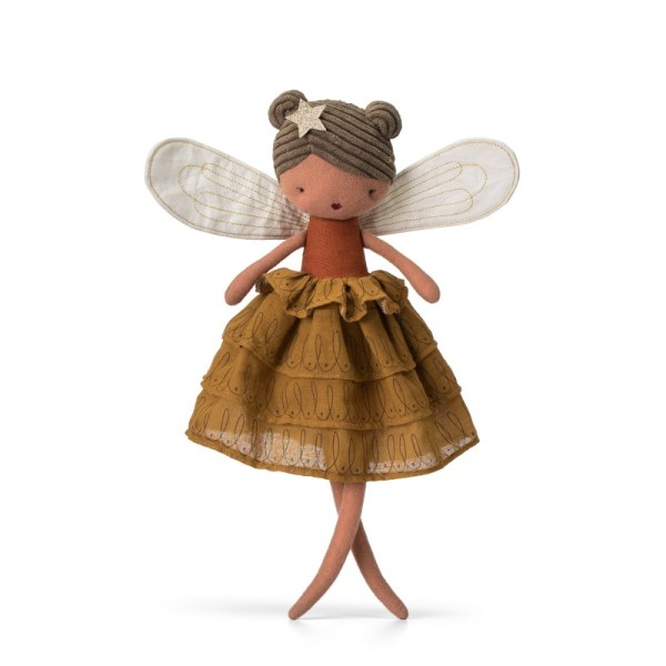 fee-felicity-avec-robe-camel-picca-loulou poupée chiffon