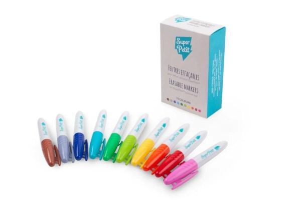 Boite 10 feutres pour silicone set de coloriage super petit