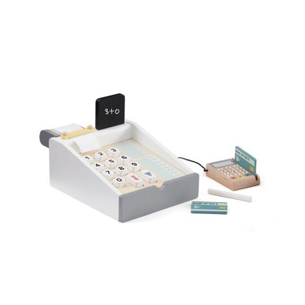 Caisse enregistreuse en bois kids concept jeu imitation