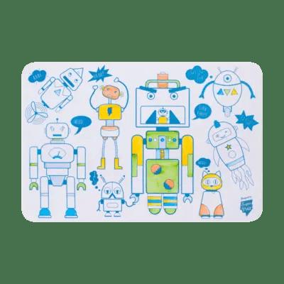 mini playmate Robot set à colorier super petit coloriage