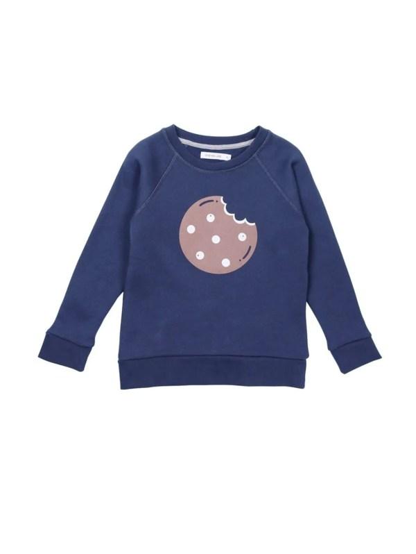 Sweat-shirt cookie en coton bio vêtement bébé, vêtement enfant
