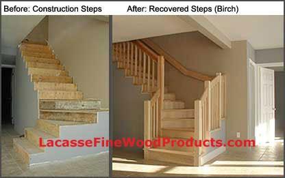 Lacasse Hardwood Stair Treads Made On Custom Order   Custom Wood Stair Treads   Solid Wood   Reclaimed Wood   Red Oak Stair   Slate Tile   Los Angeles