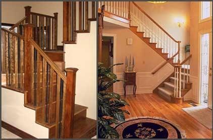 Lacasse Custom Wood And Metal Spindles Railings | Wood Railings For Steps | Craftsman Style | Inside | Glass | Verandah | Stair Outdoors