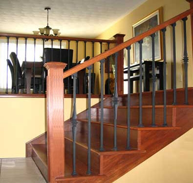 Lacasse Wrought Iron Railings For Interior Installation   Installing Wrought Iron Balusters   Staircase   Stair Treads   Stair Parts   Iron Stair Spindles   Wood
