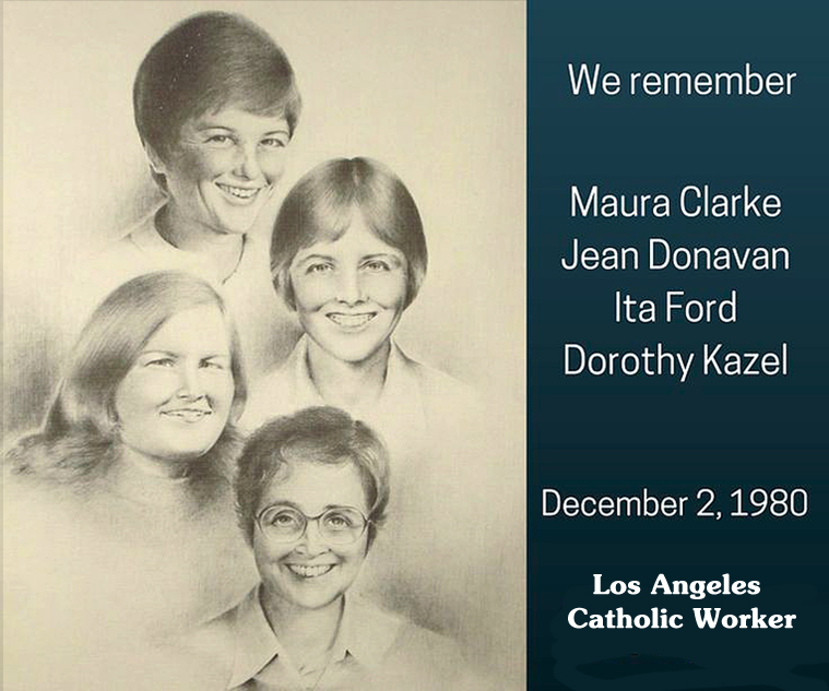 Memorial for U S  Church Women Martyred in El Salvador