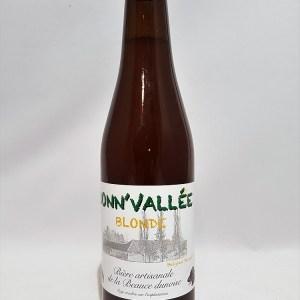 Bonn'vallée Blonde 33 cl Bière artisanale de la Beauce Dunoise